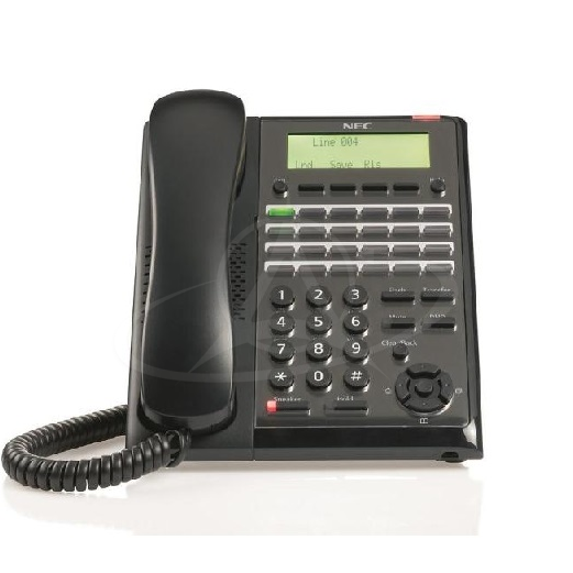 NEC IP7WW-24TXH-A1 TEL (BK) 24 Keys, LCD Digital Telephone